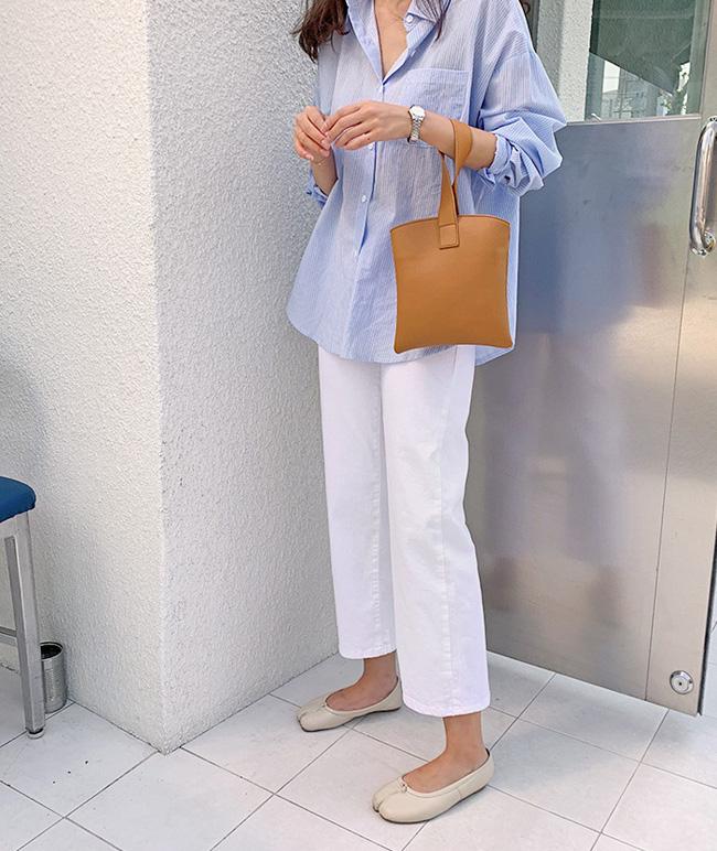 Hè diện quần trắng cho mát nhưng để sành điệu không chê được điểm nào, bạn nên ghim 12 cách mặc của gái Hàn - Ảnh 2