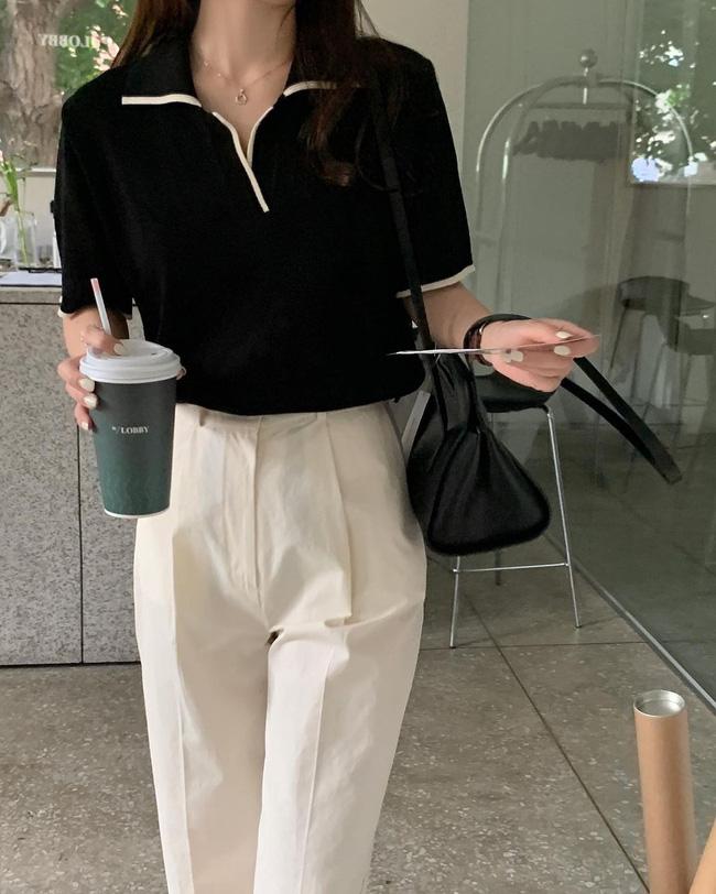 Hè diện quần trắng cho mát nhưng để sành điệu không chê được điểm nào, bạn nên ghim 12 cách mặc của gái Hàn - Ảnh 6