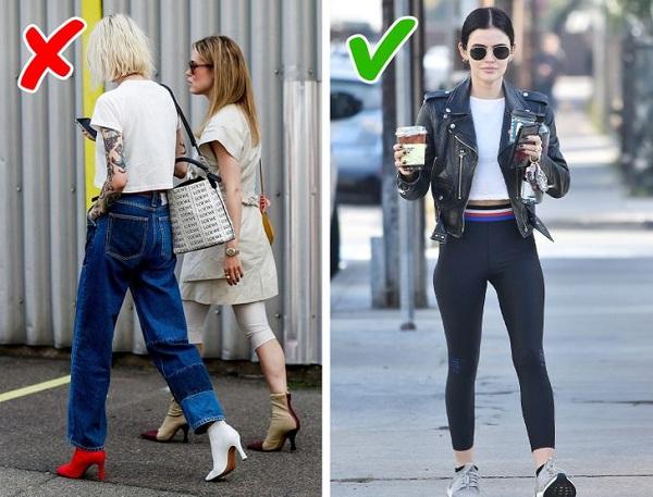 9 sai lầm phổ biến chị em thường mắc phải khi mặc quần legging - Ảnh 6