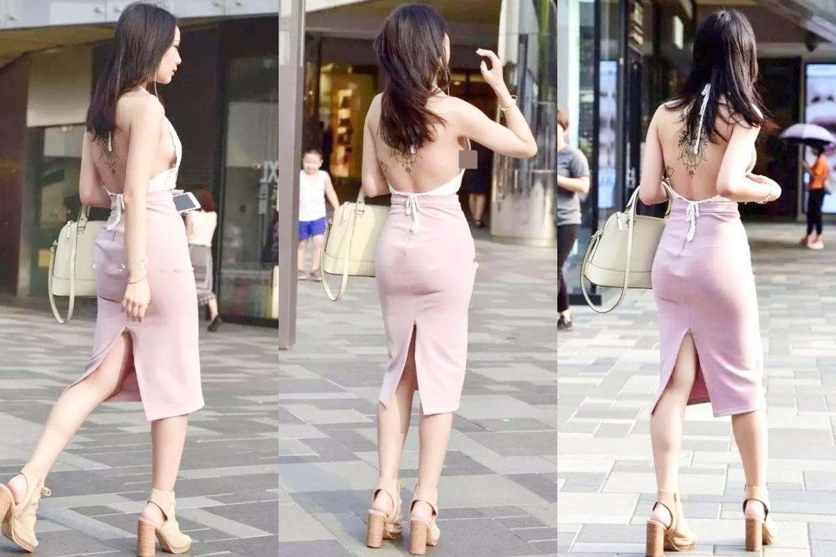 Váy hở lưng thời thượng được nhiều 'bóng hồng' săn đón bỗng trở thành thảm họa thời trang đường phố - Ảnh 1