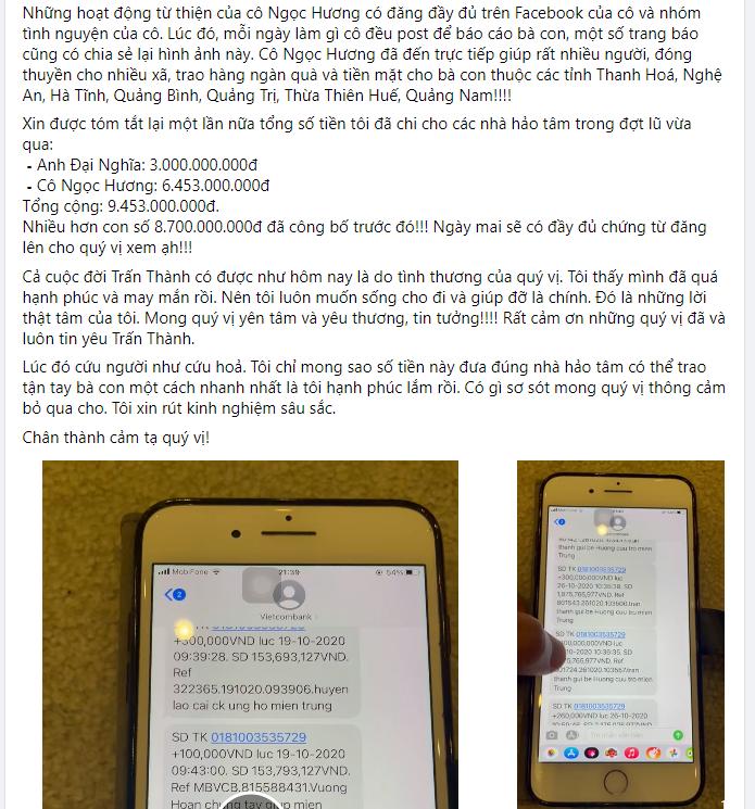 Nóng: Giữa đêm, Trấn Thành xin lỗi về 4,3 tỷ đồng tiền từ thiện 'không cánh mà bay' khỏi tài khoản Thủy Tiên - Ảnh 3