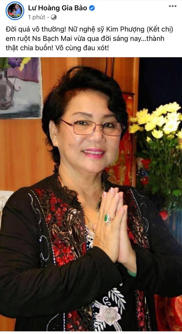 Sao Việt bàng hoàng và thương xót Nghệ sĩ Kim Phượng qua đời vì Covid-19, tang lễ phải tạm hoãn do dịch - Ảnh 2