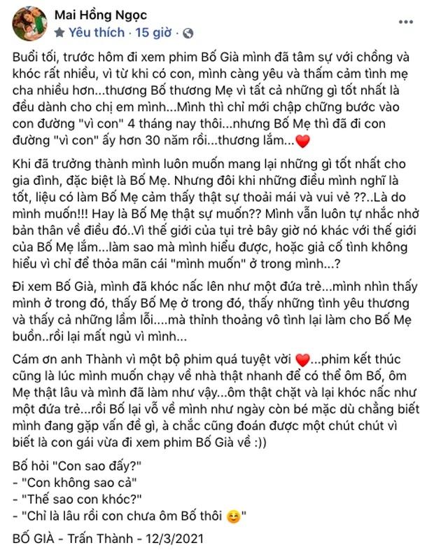 Hari Won nhắn gửi Đông Nhi sau bài đăng khen Bố Già: 'Anh chị chưa có con như em, chưa cảm nhận rõ cảm xúc của em được' - Ảnh 4