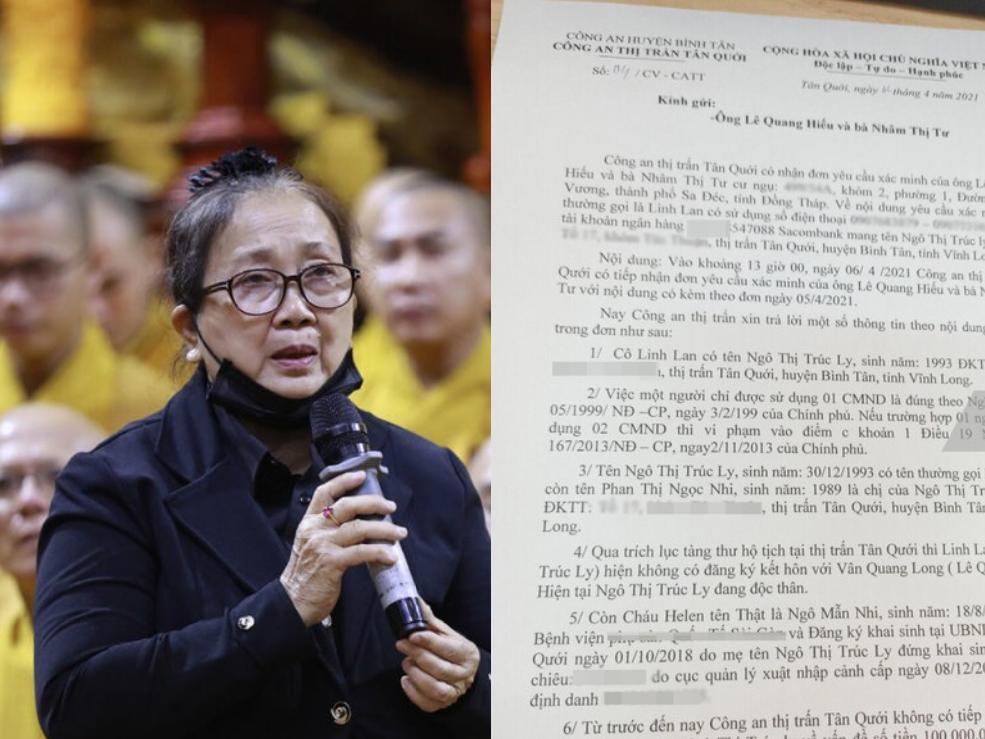 Biến căng: Bố mẹ Vân Quang Long tung bằng chứng khẳng định Linh Lan giả mạo nhân thân, không phải vợ cố nghệ sĩ