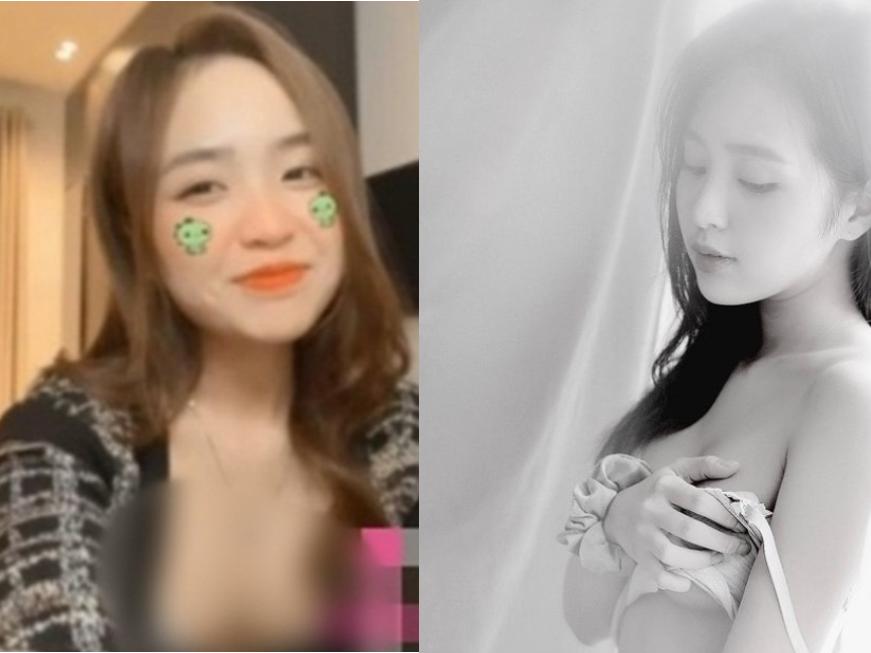 Chọn phải chiếc áo 'phản chủ', hot girl Lê Phương Anh bất ngờ khi vòng 1 'đi chơi xa' trong livestream mới nhất