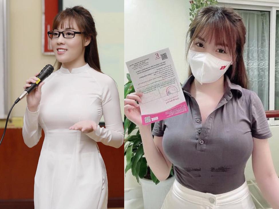 Đi tiêm vắc xin, nữ giảng viên ở Hà Nội khiến dân tình 'tụt huyết áp' vì vòng 1 ngoại cỡ