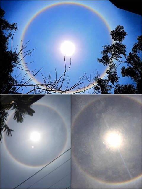 2 cầu vồng bao quanh mặt trời giữa đại lễ Phật Đản Huế - Ảnh 2