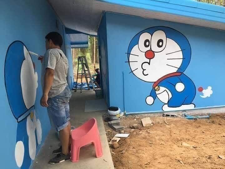 Khám phá 'ngôi nhà Doraemon' cực dễ thương khiến hội phụ huynh học sinh phát cuồng