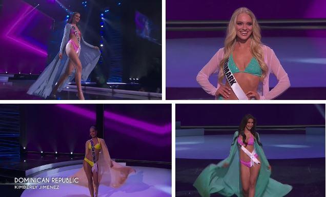 Bán kết Hoa hậu Hoàn vũ 2020: Tự hào trước màn trình diễn bikini thần thái và sexy của Khánh Vân, một thí sinh bị vấp - Ảnh 4