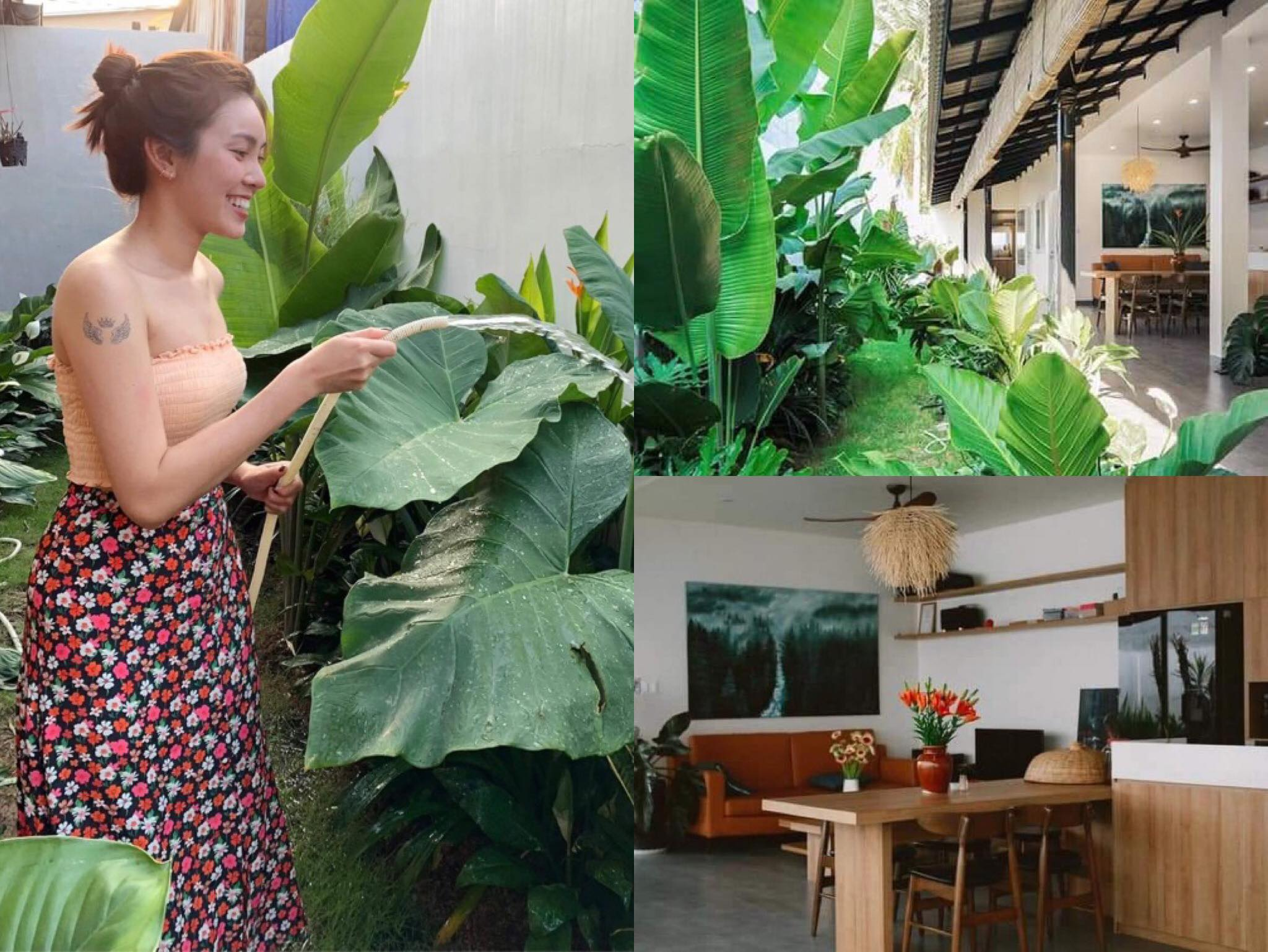 Chống dịch tại gia, gái đẹp quyết định về quê 'tút tát' lại ngôi nhà cho bố mẹ đẹp như resort nghỉ dưỡng