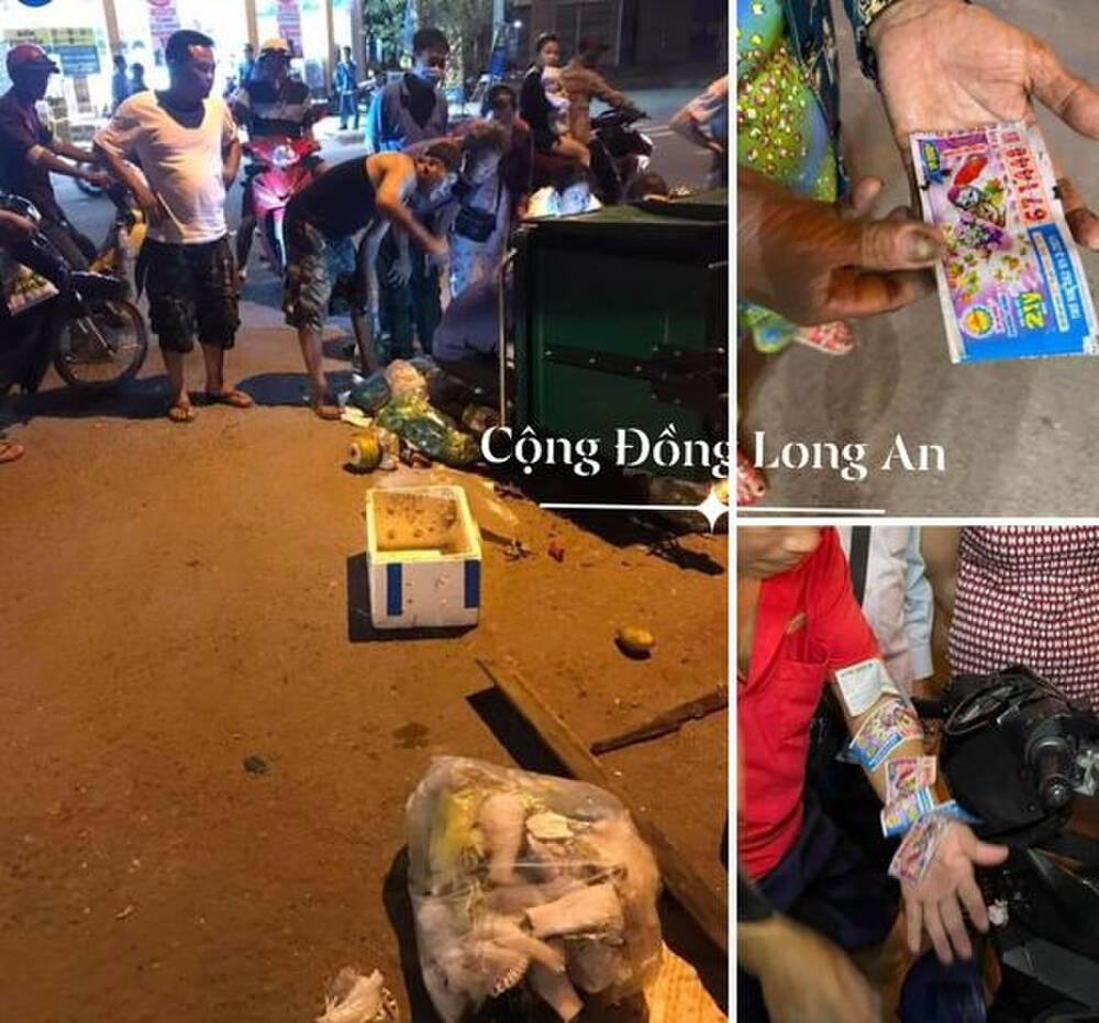 Người đàn ông vứt nhầm 12 tờ vé số trúng giải, cả xóm lục tung thùng rác tìm hộ giữa đêm khuya - Ảnh 1