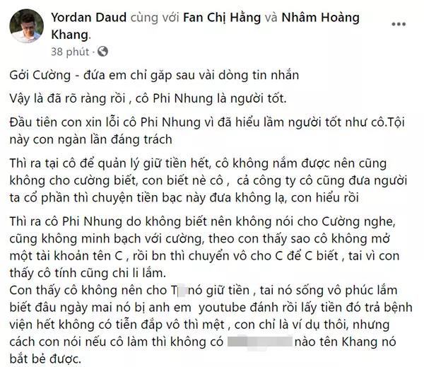 IT bạc tỷ Nhâm Hoàng Khang bỏ 'sĩ diện', bất ngờ xin lỗi ca sĩ Phi Nhung nhưng... toàn 'tình tiết sâu cay' - Ảnh 2