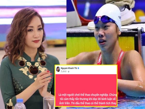 Khánh Thi bức xúc khi 'kình ngư' Ánh Viên bị mỉa mai thất bại tại Olympic: 'Chúng tôi cảm thấy tổn thương'