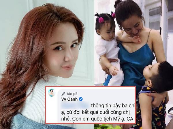 Vy Oanh khẳng định con mình có quốc tịch Mỹ giữa ồn ào bị tố đẻ thuê, đanh thép: 'Cứ đợi kết quả cuối cùng nhé'