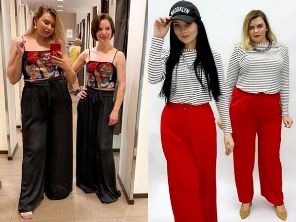 2 cô gái 'mặc chung đồ' chứng minh thời trang không phụ thuộc vào số đo