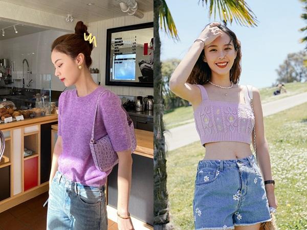 4 items kết hợp cực nuột với áo tím hot hit, chị em diện lên chỉ đẹp và sang chứ không có chuyện sến