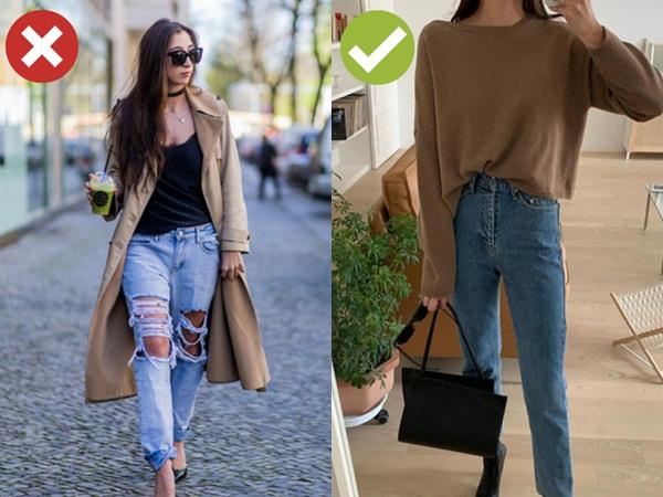 4 kiểu quần jeans có cho cũng không lấy vì diện lên lôi thôi, lỗi mốt và dễ còn tố sạch nhược điểm đôi chân