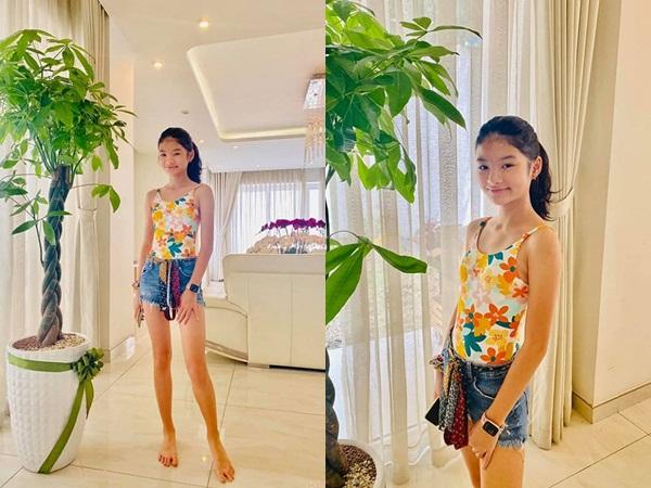 Ái nữ 12 tuổi nhà Trương Ngọc Ánh lại gây sốt với khoảnh khắc khoe chân dài cực phẩm: Hoa hậu tương lai đây rồi!