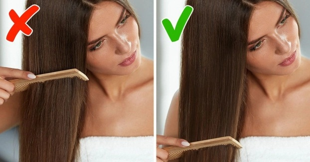 7 sai lầm khi chải tóc khiến tóc hư tổn, gãy rụng nhiều người mắc phải - Ảnh 1