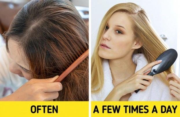 7 sai lầm khi chải tóc khiến tóc hư tổn, gãy rụng nhiều người mắc phải - Ảnh 4