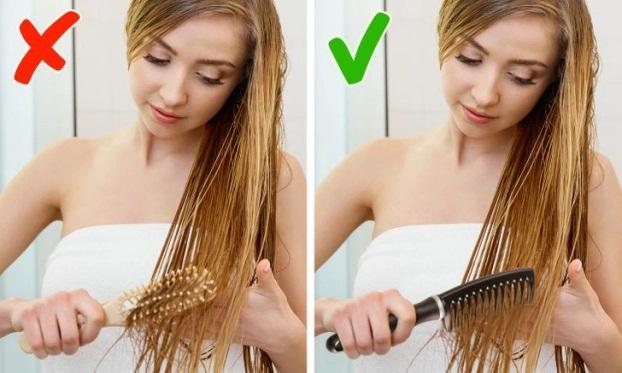 7 sai lầm khi chải tóc khiến tóc hư tổn, gãy rụng nhiều người mắc phải - Ảnh 5