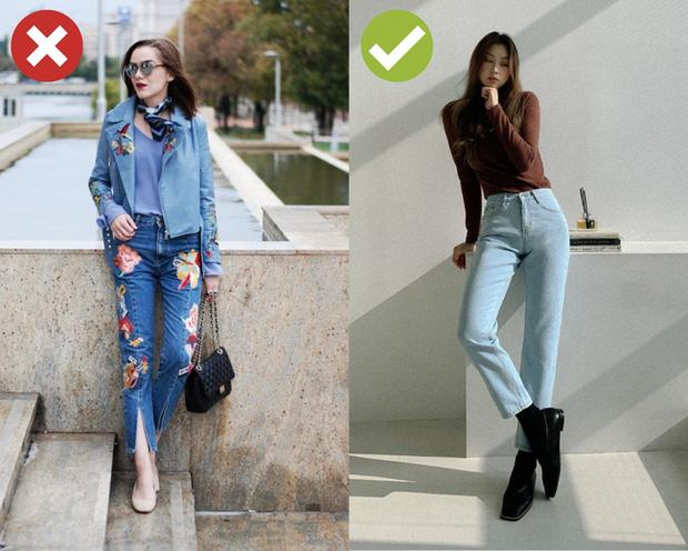 4 kiểu quần jeans có cho cũng không lấy vì diện lên lôi thôi, lỗi mốt và dễ còn tố sạch nhược điểm đôi chân - Ảnh 4