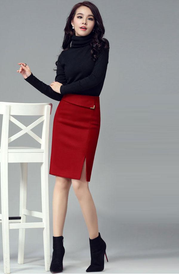 Gợi ý cách mix đồ với chân váy cực xinh cho các nàng diện ngay Tết này - Ảnh 7