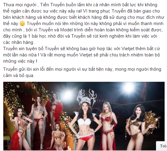 Sau thời gian im lặng, NTK trang phục bikini phản cảm trên chuyên cơ đón U23 Việt Nam lần đầu lên tiếng - Ảnh 3
