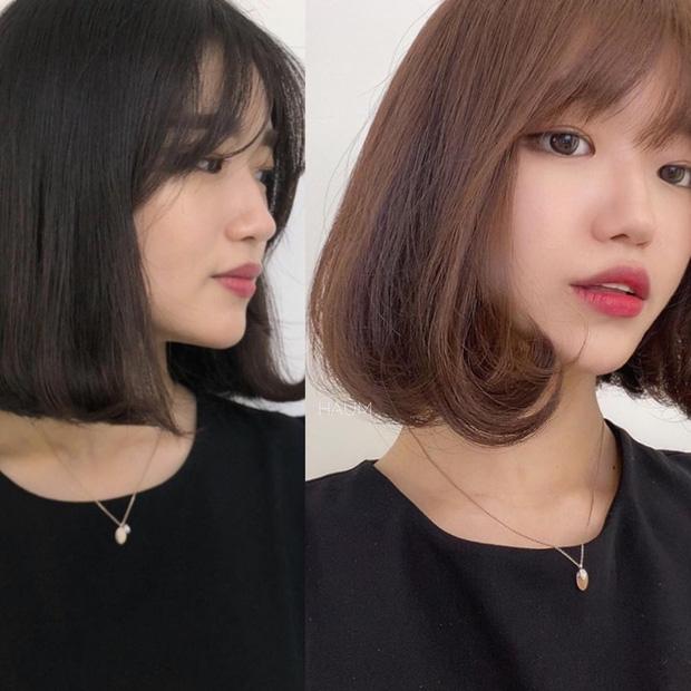 Học gái Hàn nhuộm tóc màu caramel không cần tẩy để makeup đơn giản vẫn xinh, diện đồ là 'auto' trừ tuổi - Ảnh 1