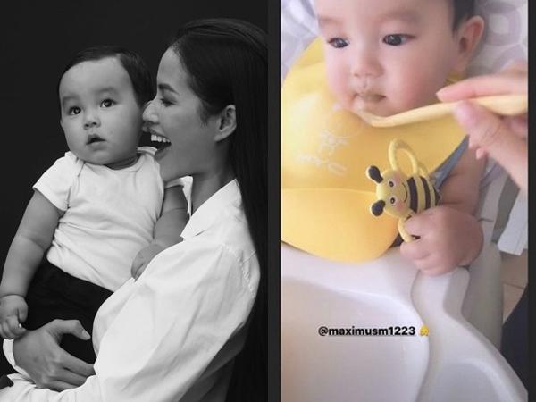 Bị chỉ trích vì để con trai mới hơn 1 tuổi vừa ăn vừa xem tivi, Phạm Hương lên tiếng