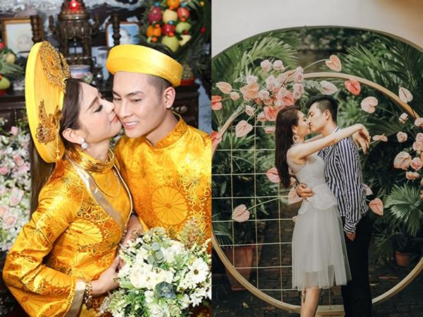 Bị đồn kết hôn vì hợp đồng, Lâm Khánh Chi đăng hình khóa môi chồng trẻ cực ngọt sau 2 năm chung sống