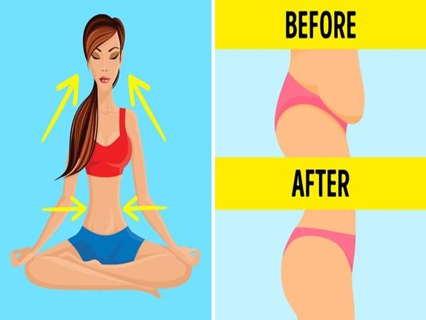Biết thở theo 8 cách này thì không cần tập gập bụng vẫn đốt mỡ bụng đến không ngờ