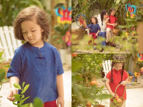 Bộ ảnh mừng Tết Trung thu của 2 thiên thần nhỏ nhà Elly Trần 'đốn tim' fan vì quá đáng yêu