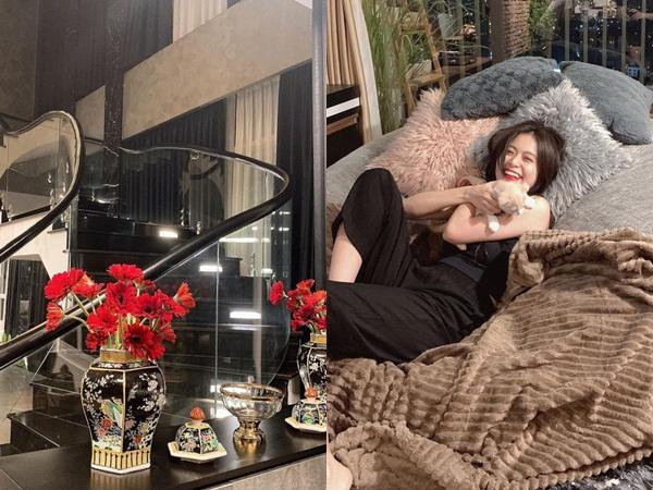 Căn nhà rộng đi mỏi chân của Hoàng Thuỳ Linh: Màu đen chủ đạo nhìn cực sang, có tủ quần áo đẹp phát hờn