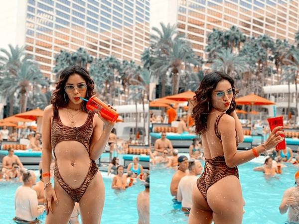 Chán khoe ngực, Phương Trinh Jolie lại 'đốt mắt' khán giả khi diện bikini khoét sâu ngay vùng nhạy cảm