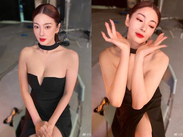 Chỉ 1 tấm ảnh hậu trường, 'Song Hye Kyo Trung Quốc' khiến dân tình ngộp thở vì vòng 1 như chực trào ra ngoài