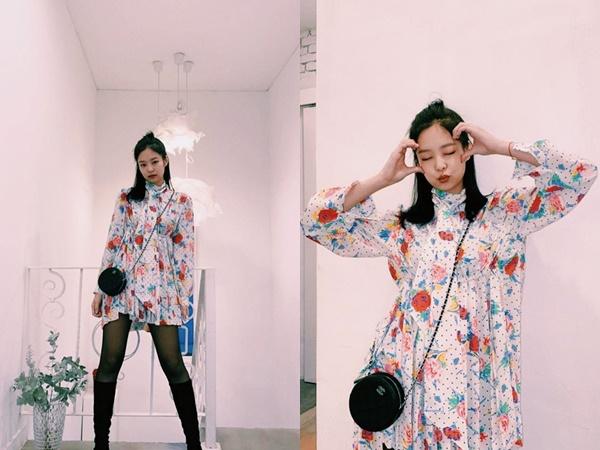 Chỉ có thể là Jennie (BLACKPINK), diện đầm hoa lá sến súa vẫn cực sang và thần thái