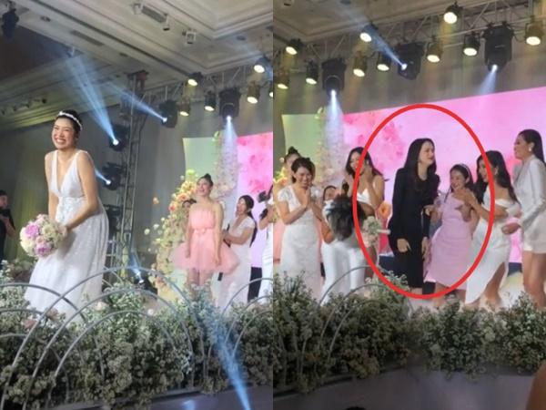 Clip Thuý Vân tung hoa cưới gây sốt: Hương Giang chiếm spotlight với biểu cảm ê chề, nhìn là biết muốn lấy chồng lắm rồi
