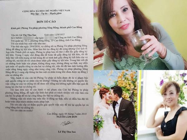Cô dâu 61 tuổi lấy chú rể 26 tuổi bất ngờ làm đơn tố cáo Phòng Tư pháp vì để lộ giấy đăng ký kết hôn của mình