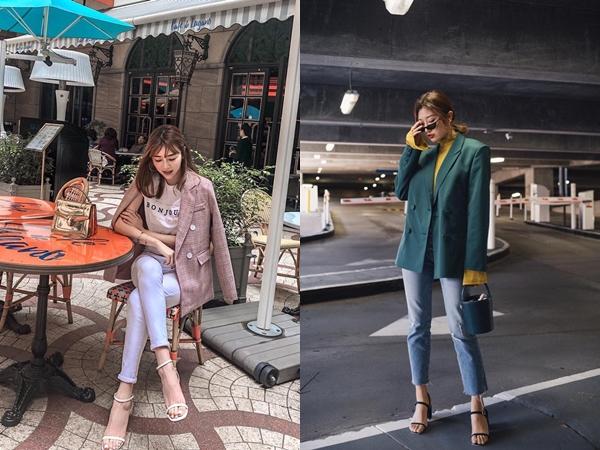 """Có đến 4 style khác nhau từ """"cặp bài trùng"""" quần jeans + blazer phục vụ các chị em công sở"""