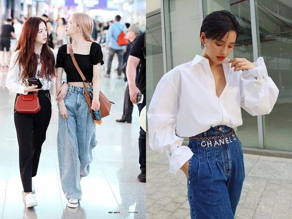 """Có một kiểu quần jeans sao Việt """"phát cuồng"""" mới đây nhưng Rosé thì đã diện suốt từ năm ngoái mới tài"""