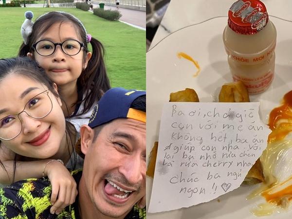 Con gái bị chê vì để thức ăn thừa cho ba, Huy Khánh đáp trả cực tinh tế khiến fan hả hê