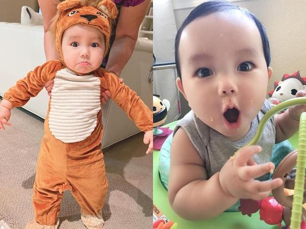 Con trai Phạm Hương sắp hot hơn cả mẹ, được gọi là 'thánh biểu cảm' với loạt ảnh gây sốt
