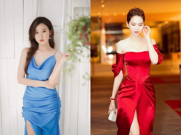 """Cùng là váy lụa nhưng chỉ cần Midu khéo chọn dáng váy thì sẽ không thể lộ """"vùng cấm địa"""", tiếc là cô không biết đến 4 tips này sớm hơn"""