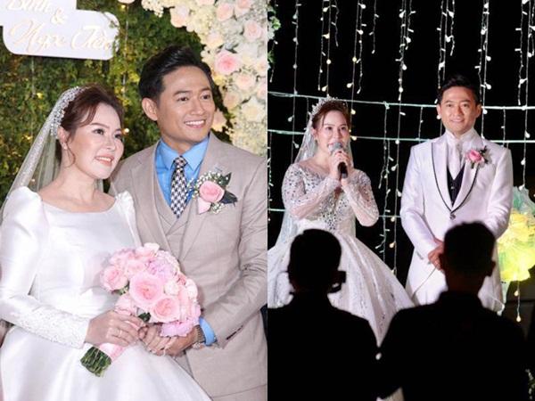 Đám cưới Quý Bình: Vợ doanh nhân bật khóc vì xúc động, chú rể trao cô dâu nụ hôn ngọt ngào