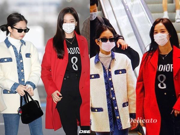Giữa lúc dịch Covid-19 bùng phát tại Hàn, Jennie quên mang khẩu trang ra sân bay liền bị chị cả BLACKPINK nhắc nhở cực yêu