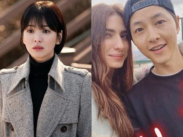 Giữa lúc Song Hye Kyo vướng nghi vấn 'bắt cá hai tay', Song Joong Ki thoải mái chụp ảnh tình tứ cùng gái lạ tại trời Tây