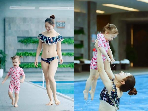 Giữa mùa dịch Covid-19, Lan Phương thoải mái đi bơi cùng con gái, khuyên mọi người đừng sợ hãi quá mức
