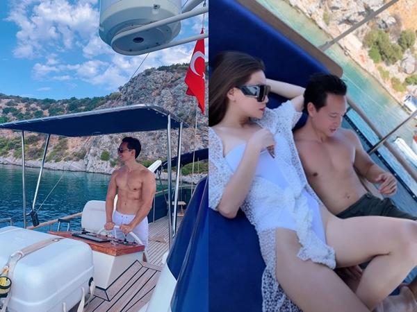 Kim Lý khoe body 6 múi cuồn cuộn, Hà Hồ cũng chẳng kém cạnh khi diện bikini tạo dáng nóng bỏng