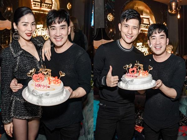 Lệ Quyên và tình trẻ Lâm Bảo Châu công khai kề cận tại sinh nhật Quang Hà, nhìn biểu cảm đủ biết hạnh phúc thế nào!